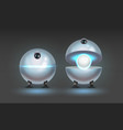 fictional robot assistant vector image vector image