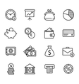 Finance and bank Icon Set vector image vector image