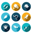 Fishing icon collection vector image