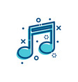 flat outline icons music vector image vector image