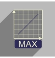 Flat web icon with long shadow growing schedule vector image vector image