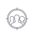 focus group target audience line icon vector image