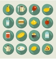 Food icon set on the banners vector image vector image