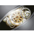 Glossy metallic gears vector image vector image