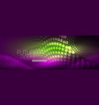 glowing neon circle line dots round line design vector image