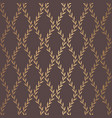 golden leaves pattern vintage design vector image vector image