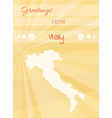 greetings from italy vector image