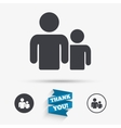 Group of people sign icon Share symbol vector image vector image