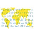 hand draw map set elements transport tracking vector image vector image