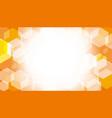 Hexagon box on orange gradient abstract background