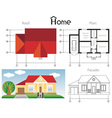 House project vector image vector image