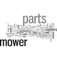 how to find parts for lawn mowers vector image vector image