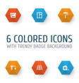 industry icons set collection of paint bucket vector image vector image