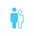 Linear and flat man an woman icon simple flat