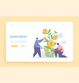 male and female characters are watering money vector image