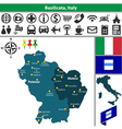 Map of Basilicata vector image