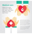 Medical donation Hands give heart to another
