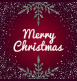 merry christmas holiday banner with silver vector image