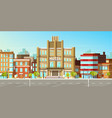 modern city buildings flat background vector image vector image