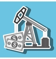 oil and bills isolated icon design vector image vector image