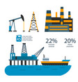 oil gas industry manufacturing gas vector image vector image