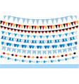 oktoberfest set of flags bunting garland vector image