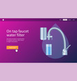 on tap faucet water filter vector image