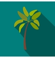 Palm tree icon flat style vector image vector image