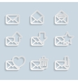 Paper Envelopes Icons vector image
