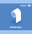 paper roll icon isometric template vector image
