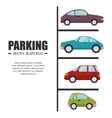 parking lot design vector image vector image