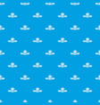 pizza fresh pattern seamless blue vector image vector image