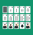 playing cards spade suit vector image vector image