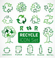 recycle icons and elements vector image vector image