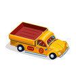 retro pickup car with fruit farm lorry car vector image vector image