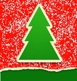 Rip paper card with Christmas tree vector image vector image