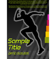 running poster vector image vector image