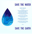 save the water placard vector image