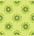 seamless pattern with ripe kiwi fruit slice vector image