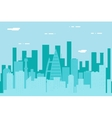 Seamless Silhouette Urban Landscape City Real vector image vector image
