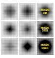 Set Halftone isolation element design vector image