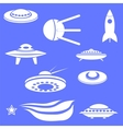 Set of Spaceships Silhouettes vector image vector image