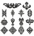 set ornamental damask for design vector image