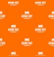 smart time pattern orange vector image vector image
