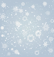 snowflakes falling from the sky vector image vector image