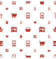 supermarket icons pattern seamless white vector image vector image