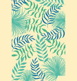 tropical pattern with leaves and plants on color vector image