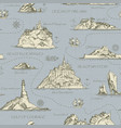 vintage seamless background on the theme of travel vector image vector image