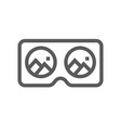 virtual reality and augmented reality line icon vector image vector image