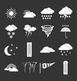 weather set grey vector image vector image